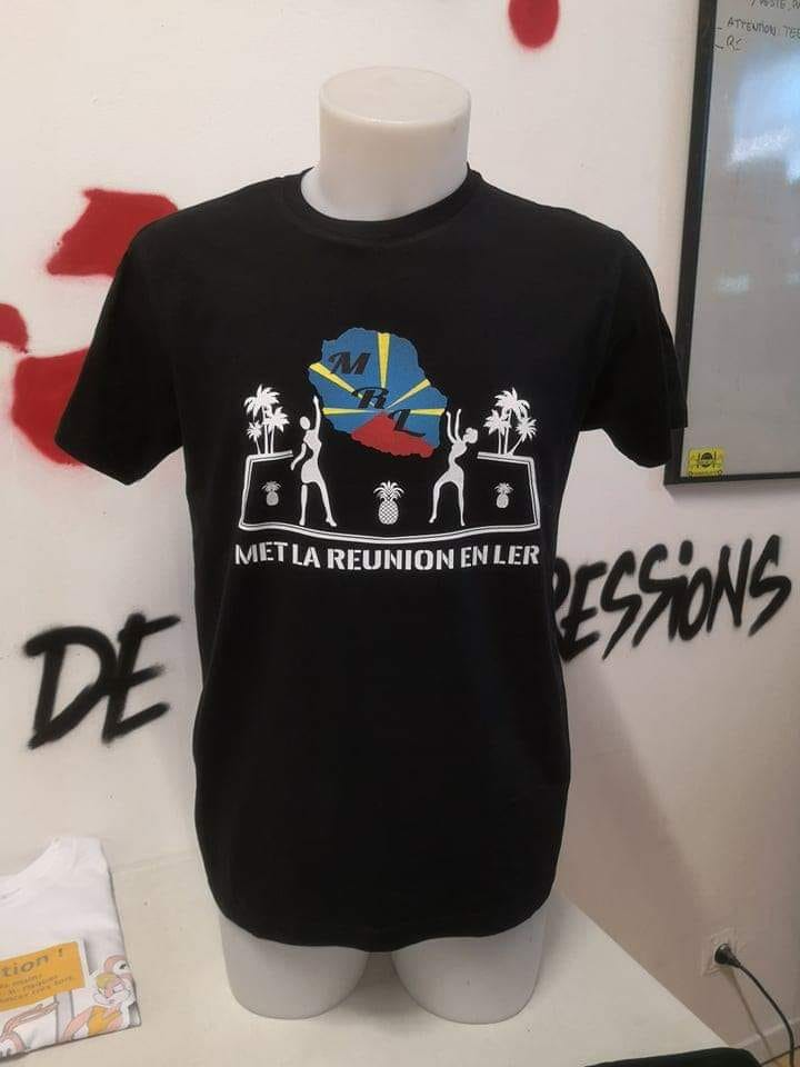 Tee-shirts, Met La Reunion en ler, vente, stickers, mugs