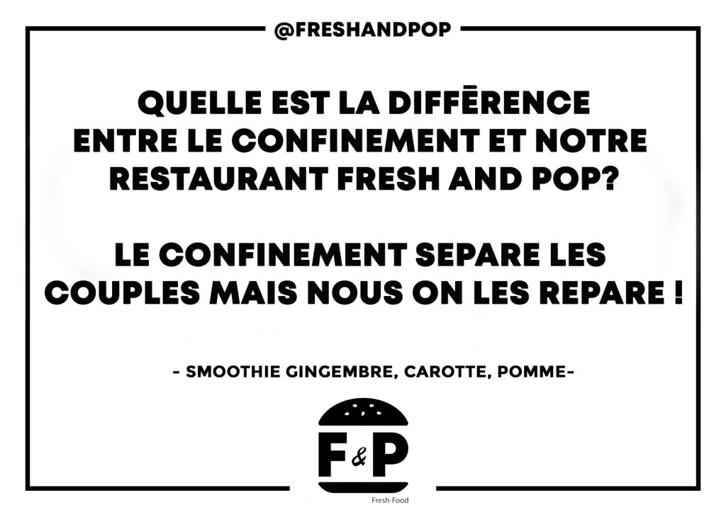 Humour, restaurant Fresh and Pop, visuel